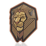 Mil-Spec Monkey 3D Rubber Patch Industrial Lion bronze