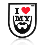 101 INC. 3D Rubber Patch I love my beard weiss/schwarz