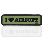101 INC. 3D Rubber Patch I Love Airosoft oliv/schwarz