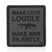 101 INC. 3D Rubber Patch Make love loudly grau/schwarz