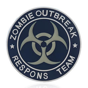 101 INC. 3D Rubber Patch Zombie Outbreak Respons Team blau/weiß