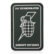 101 INC. 3D Rubber Patch Handgranate grün/weiß