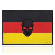 101 INC. 3D Rubber Patch Flagge Deutschland Skull