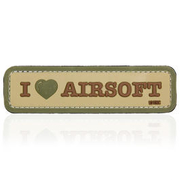 101 INC. 3D Rubber Patch I Love Airosoft coyote