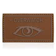 101 INC. 3D Rubber Patch Overwatch schwarz