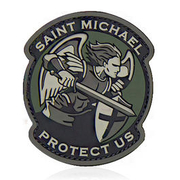 Mil-Spec Monkey 3D Rubber Patch Saint Michael Modern PVC multicam