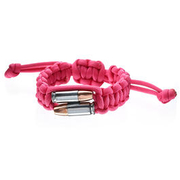 Real Bullet Armband Bullet Twins Paracord pink