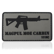 101 INC. 3D Rubber Patch Magpul Moe Carbin grau