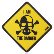 101 INC. 3D Rubber Patch I am the danger gelb
