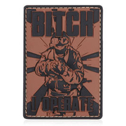 3D Rubber Patch Bitch braun