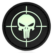 3D Rubber Patch Punisher Visier nachleuchtend