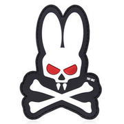 101 INC. 3D Rubber Patch Skull Bunny weiß