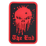 3D Rubber Patch Skull The End rot