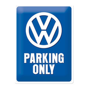VW Blechschild VW Parking Only 30x40 cm
