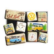 VW Magnet Set VW Bulli Let´s Get Lost 9teilig