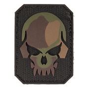3D Rubber Patch Skull tarn