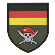 3D Rubber Patch German Commando Skull