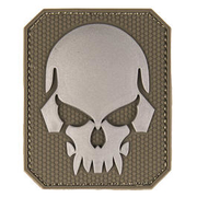 3D Rubber Patch Skull oliv