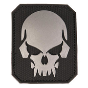 3D Rubber Patch Skull schwarz