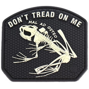 JTG 3D Patch Don´t tread on me frog nachleuchtend