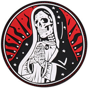 JTG 3D Rubber Patch Santa Muerte Patch redsky