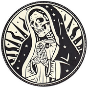 JTG 3D Rubber Patch Santa Muerte Patch nachleuchtend