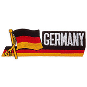 Textil Patch Waving Flag Germany mit Bügelfläche