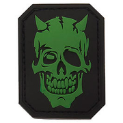 3D Rubber Patch Devil Skull