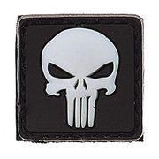 3D Rubber Patch Punisher weiß