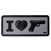 101 INC 3D Rubber Patch I Love My Sidearm schwarz