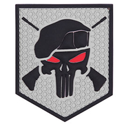 3D Rubber Patch Commando Punisher grau
