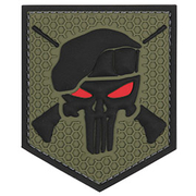 3D Rubber Patch Commando Punisher grün