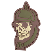 3D Rubber Patch WW I Skull multicam