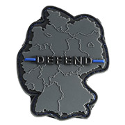 JTG 3D Rubber Patch Defend Germany Thin Blue Line