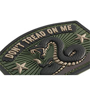 Mil-Spec Monkey 3D Rubber Patch Don´t Tread On Me forest