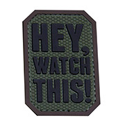Mil-Spec Monkey 3D Rubber Patch Hey Watch This forest