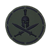 Mil-Spec Monkey 3D Rubber Patch Spartan Helmet forest