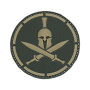 Mil-Spec Monkey 3D Rubber Patch Spartan Helmet multicam