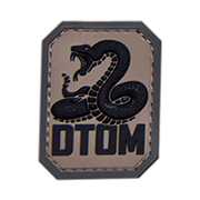 Mil-Spec Monkey 3D Rubber Patch DTOM acudark