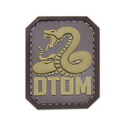 Mil-Spec Monkey 3D Rubber Patch DTOM desert