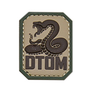Mil-Spec Monkey 3D Rubber Patch DTOM multicam
