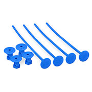 JConcepts 1:10 Buggy Tire Stick Holds 4 Stück Mounted blau 2430-1
