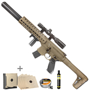 Sig Sauer MCX CO2 Luftgewehr 4,5mm Diabolo Dark Earth Komplettset