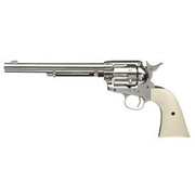 Colt Single Action Army 45 Co2-Revolver nickel 7,5 Zoll Lauflänge Kal. 4,5 mm Diabolo, gezogener Lauf