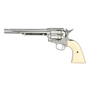 Colt Single Action Army 45 Co2-Revolver nickel 7,5 Zoll Lauflänge Kal. 4,5 mm BB
