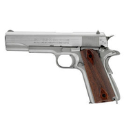 Swiss Arms SA1911 Seventies CO2 Luftpistole Vollmetall Blow Back Kal. 4,5 mmBB stainless