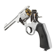 Webley MK VI CO2 Revolver Kal. 4,5mm Diabolo,  Chrom Exhibition Finish