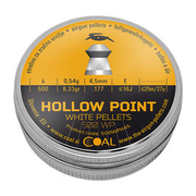Coal Hollow Point Diabolos White Pellets geriffelter Schaft 4,5 mm 500er Dose