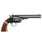 ASG Schofield 1877 6 Zoll CO2-Revolver Kal. 4,5 mm Diabolo + Stahl-BB Vollmetall aging black