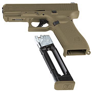 Glock 19X CO2-Luftpistole Kal. 4,5mm Stahl-BB coyote tan Blowback